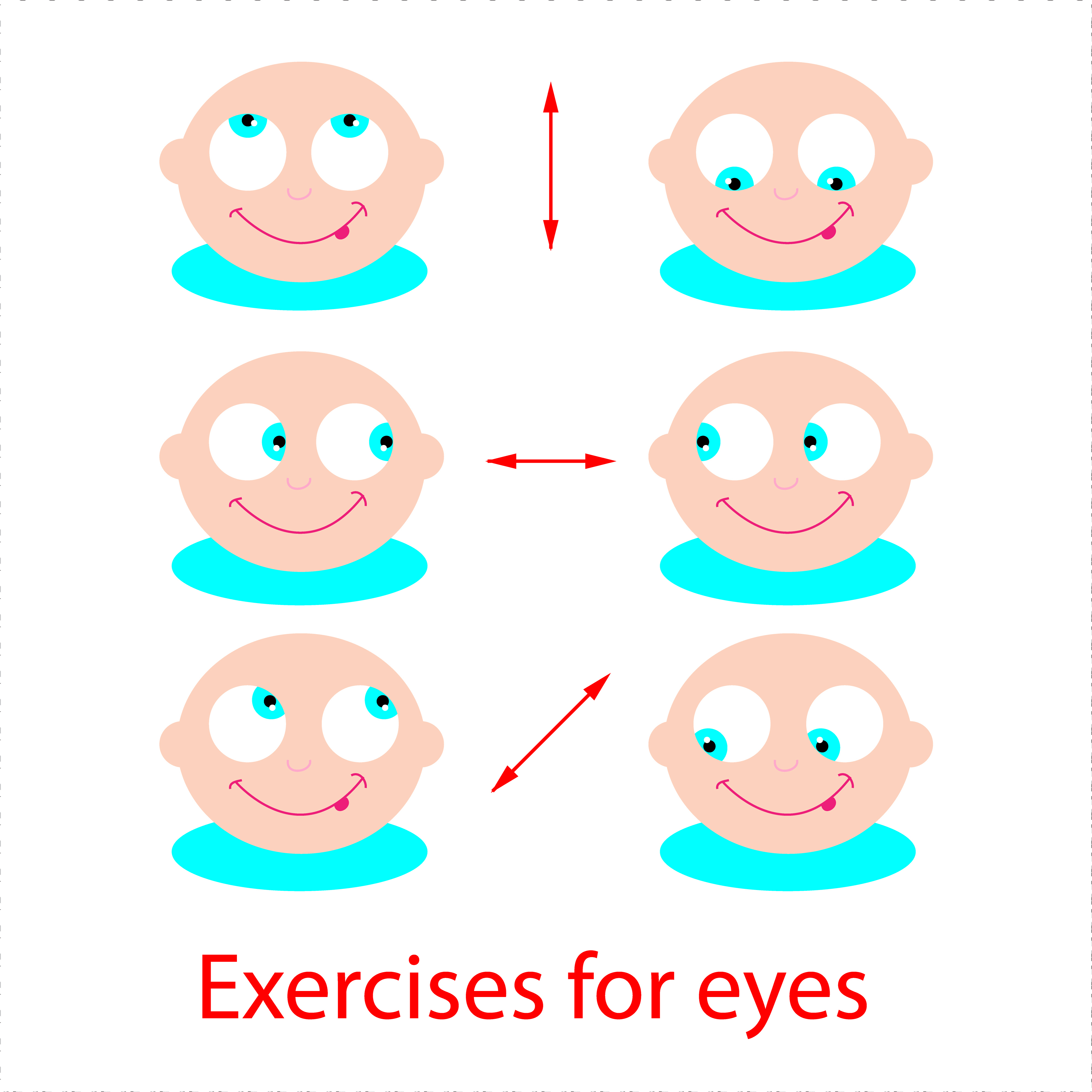 Exercise the muscles around your eyes