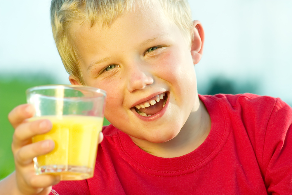 No Drinking Fruit Juice for Children Under 1 Year