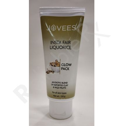 Jovees Insta Fair Liquorice Glow Pack An Exotic Blend of Improrted Clay & Wild Fruits 120 gm