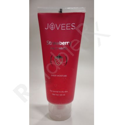 Jovees Strawberry Face Wash For Normal to Dry Skin 120 ml